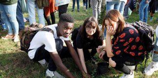 Studenti che hanno partecipato ai Friday for future in via Patuelli