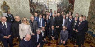 Il consiglio nazionale uscente della Fisc in visita dal presidente della Repubblica Sergio Mattarella (Chiara Genisio è l'unica donna)