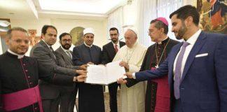 La prima riunione del Comitato per la Fratellanza umana (ANSA)
