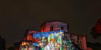 Il video-mapping su San Vitale