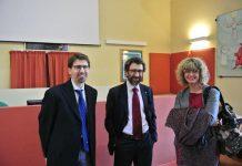 Il presidente diocesano, Stefano Alberani (a sinistra) con il presidente nazionale Matteo Truffelli e la vice-presidente Adulti, Francesca Masi
