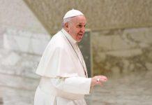 Papa Francesco all'udienza di stamattina