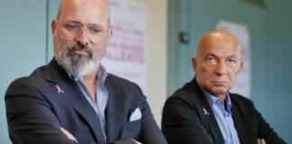 Il presidente della Regione E-R Stefano Bonaccini e il commissario straordinario per l'emergenza Sergio Venturi