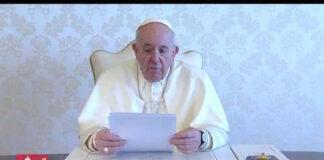Il videomessaggio del Papa