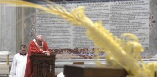 Papa Francesco alla celebrazione della Domenica delle Palme a San Pietro
